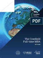 Cranfield Full-time MBA Brochure