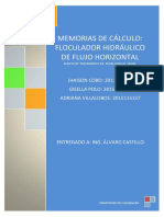 Floculador Hidráulico de Flujo Horizontal