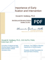 Goldberg-Early Identification and Intervention