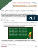 MODULE PROGRAMMATION STRUCTURÉE - Partie 3 + Travail à faire