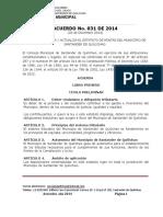 Acuerdo 031 de 2014 - Estatuto Tributario Sder q