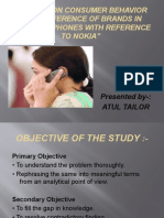 A Study on Consumer Behavior for Preference