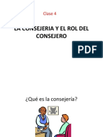 2. La Consejeria y El Rol Del Consejero. Clase 4.