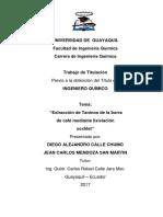401-1220 - Extracción de Taninos de La Borra de Café Mediante Lixiviación Soxhlet