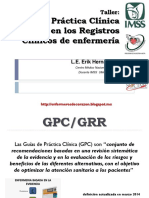 GPC Y PLACE en Registros Clinicos Enfermería Del Video