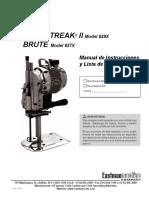 Blue Streak II and Brute Manual Spanish