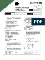 Examen Mensual Seleccion Secundaria Rm Aritmertica