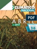 Boletin Agroclimatico Abril