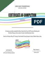 SW Certificate