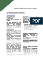 Resumen Informativo - Vida Ley Cesantes