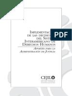 Implementación de Las Decisiones Del Sistema Interamericano de Derechos Humanos - Cejil