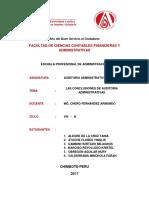 Tarea - Auditoria - Octavo Ciclo
