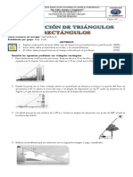 TALLER N°1 TRIGONOMETRIA 10° ANGULO DE ELEVACION Y DEPRESION