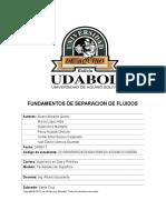 Fundamentos de Separacion de Fluidos (Informe)
