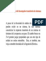Características de Sistemas de 1er y 2o Orden