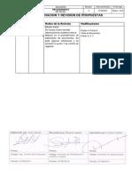 MP-PR-001 Elaboracion y Revision de Propuestas_rev 2