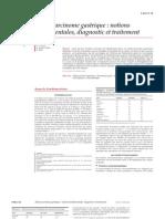 Adénocarcinome gastrique  notions fondamentales, diagnostic