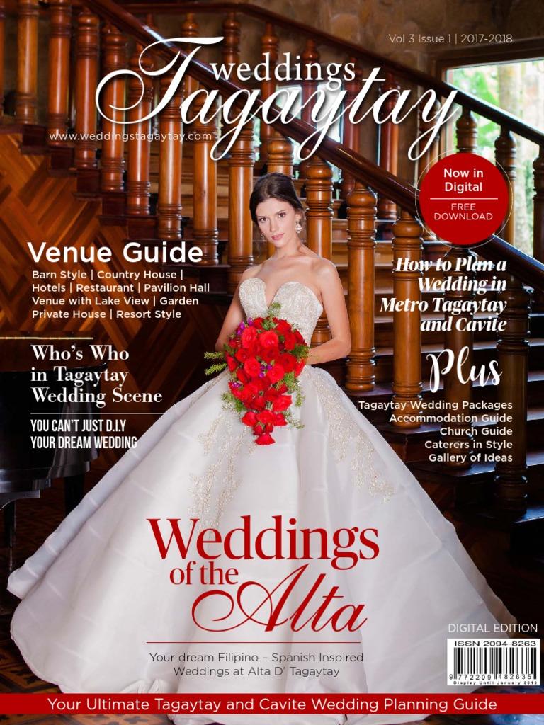 c5e20494450a Weddings Tagaytay Vol. 3 Issue 1 July 2017-2019 Volume 3 Issue 1.pdf |  Wedding | Marriage
