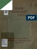 1922 War Against Opium