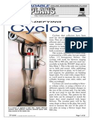 7 Cyclone Dust Collector | Rivet | Screw