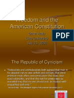 Freedom and the American Constitution