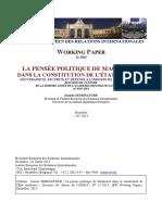 La Pensée Politique de Machiavel Dans La Constitution de l'État Moderne (Seminatore) WORKING PAPER 12-2013_0