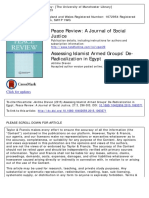 Assessing Islamist Armed Groups' de-Radicalization in Egypt - Drevon - 2015