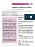 Tear and Pterygium a Clinicopathological Study of Conjunctiva for Tear Film Anomaly in Pterygium