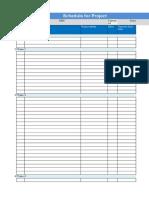 Project Schedule n Risk Tracker