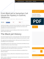 From Black Jail to Samaritan Cult House the Mystery in Guthrie, Oklahoma