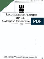 DNV RP B401 (1993)Cathodic Protection Design (Part 1 of 2).pdf