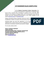 Draft Passenger Sales Agency Agreement