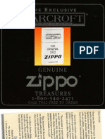 The Exclusive Barcroft Zippo Brochure