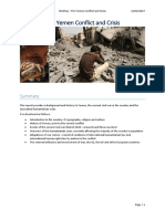Briefing; The Yemen Conflict and Crisis