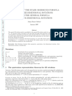Derivation of the Euler-Rodrigues Formula for Three-dimensional Rotations From the General Formula for Four-dimensional Rotations