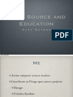 Education and Open Source