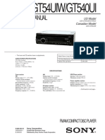 Sony Cdx-gt54uiw Gt540ui Ver-1.0 Sm