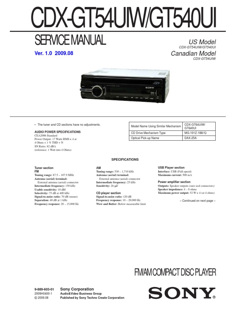 Sony Cdx Gt54uiw Wiring Diagram | Wiring Liry Xplod Sony Cdx Gt Uiw Wiring Diagram on