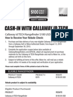 Callaway Golf IdTECH Rebate Form