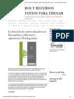 Redage2011.PDF - Contenido Del Libro - Dirección de Centros Educativos en Iberoamérica