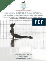 Wellco.® - Anatomía y Bienestar - Calendario Octubre