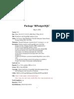 RPostgreSQL