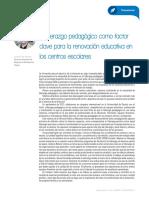 El Liderazgo Pedagógico Como Factor Clave Para La Renovación Educativa en Los Centros Escolares