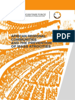 African Regional Communities and the Prevention of Mass Atrocities Final Report African Task Force