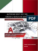 Autocad 2017 2D Y 3D Edición y Lectura de Planos