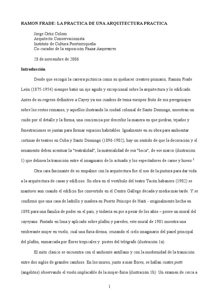 Ramón Frade: la práctica de una arquitectura práctica