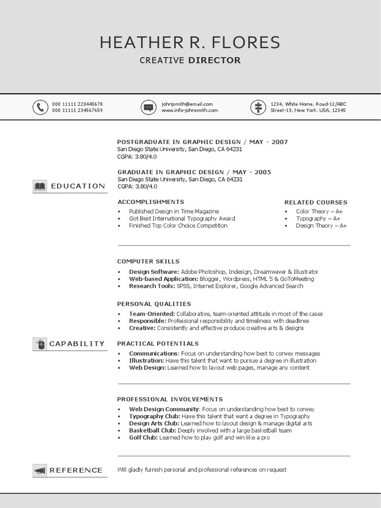 chronological resumelight  page 2docx  graphic design