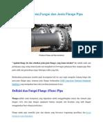 Ilmu Pipa - Definisi,Fungsi Dan Jenis Flange Pipa