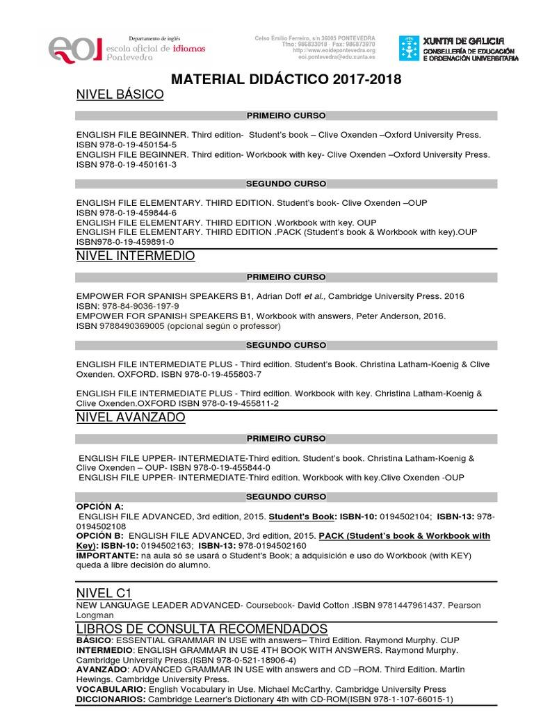 Workbooks spanish 3 workbook answers : material curso 17-18 (1).pdf