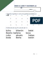 Aprendiendo a Leer y Escribir La b